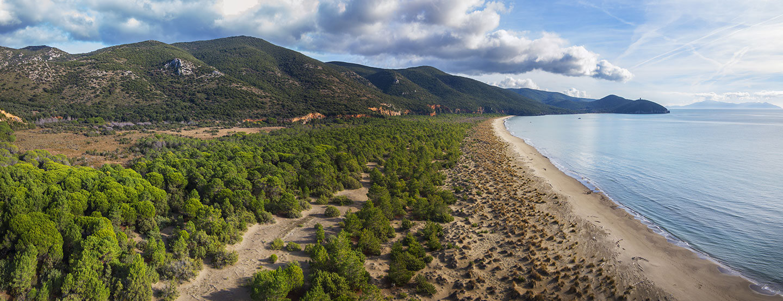 Spiaggia di parco di maremma